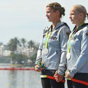 Franziska Weber und Tina Dietze: Silber im Kajak-Zweier über 500 Meter