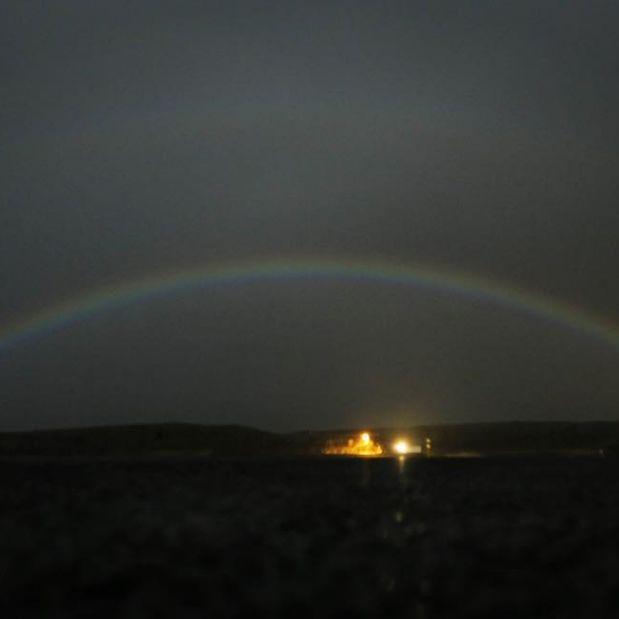 Seltener Mond-Regenbogen zeigt sich am Himmel (Foto)