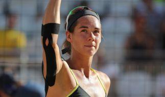 Beachvolleyballerin Kira Walkenhorst bei den Olympischen Spielen 2016 in Rio. (Foto)