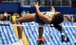 Die deutsche Hochspringerin Marie-Laurence Jungfleisch hat sich für das Olympia-Finale am Sonntag in Rio qualifiziert. (Foto)