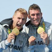 Jan Vandrey undSebastian Brendel: Gold im Canadier-Zweier über 1000m