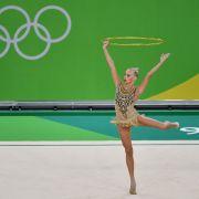 Deutsche Gymnastin Jana Berezko-Marggrander mit Ergebnis zufrieden (Foto)