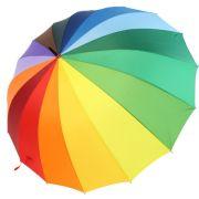 Regenwetter im Herbst? Mit diesem knallbunten Regenschirm ist selbst an einem grauen Herbsttag gute Laune garantiert. Unter das Modell aus dem Hause iX-brella passen dank der 1,29 Meter Durchmesser bequem zwei Personen.
