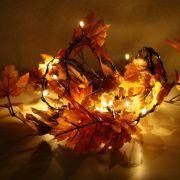 Sie möchten heimeliges Flair in der Wohnung? Nichts leichter als das: Diese verträumte Blättergirlande mit integrierter Lichterkette zaubert genau die richtige Stimmung für das gemütliche Einkuscheln auf dem Sofa.