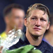 Bei seinem Abschied aus der Nationalmannschaft kämpfte Schweini mit den Tränen.
