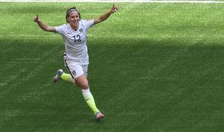 """Lauren Holiday nach ihrem Tor im """"FIFA World Cup""""-Finale 2015 zwischen den USA und Japan in Vancouver, Kanada, am 5. Juli 2015. (Foto)"""