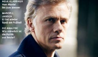 """Der Schauspieler Christoph Waltz ist auf dem Titelbild der Erstausgabe des """"ZEITmagazin MANN"""" am 6. September. (Foto)"""