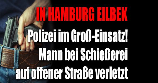 in hamburg eilbek schie erei auf offener stra e polizei im gro alarm. Black Bedroom Furniture Sets. Home Design Ideas