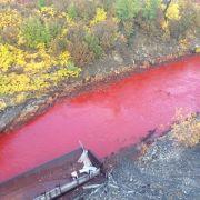 Blutroter Fluss stellt Menschen vor Rätsel (Foto)