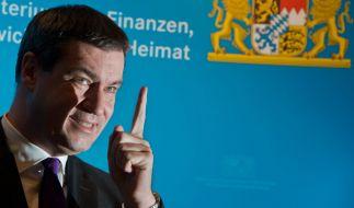 CSU-Minister Söder attackiert Bundeskanzlerin Merkel. (Foto)