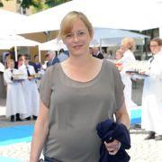 Hier noch hochschwanger mit ihrer Tochter:Silke Bodenbender auf dem Filmfest in München 2014.