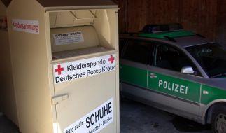In einem Altkleider-Container wurde eine Babyleiche gefunden. Symbolbild. (Foto)