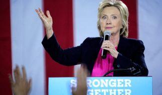 Hillary Clinton beim Wahlkampf. (Foto)