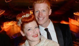 Enie van de Meiklokjes und ihr Ehemann Tobias Staerbo. (Foto)