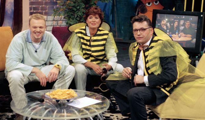Lange ist es her: 1996 war Stefan Raab zu Besuch bei Christine Westermann und Götz Alsmann. (Foto)
