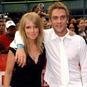 Peer Kusmagk im Jahr 2004 mit seiner Ex-Frau Charlotte Karlinder.