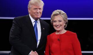 Das erste TV-Duell hat Hillary Clinton für sich entschieden. (Foto)