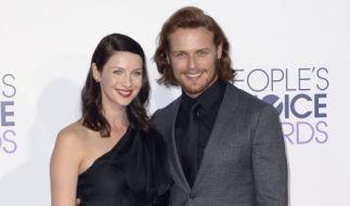 "Caitriona Balfe und ihr ""Outlander""-Kollege Sam Heughan bei den People's Choice Awards in Los Angeles. (Foto)"