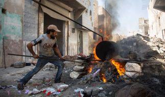 Szene aus dem in Schutt und Asche gelegten Aleppo in Syrien am 10. September 2016. (Foto)