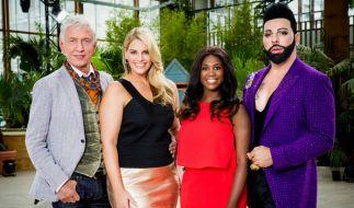 Die Jury der neuen RTL2-Model-Show (von links): Ted Linow, Angelina Kirsch, Motsi Mabuse und Harald Glööckler. (Foto)