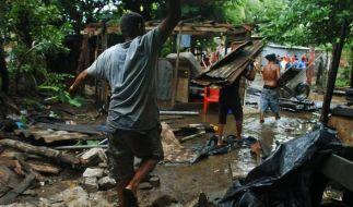 """Der Wirbelsturm """"Matthew"""" hat in der Karibik für Verwüstung gesorgt: Mit schweren Regenfällen und Windgeschwindigkeiten von bis zu 230 Kilometern pro Stunde fegte der Hurrikan über Haiti, Kuba und die Dominikanische Republik hinweg. (Foto)"""