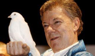 Juan Manuel Santos, Präsident Kolumbiens, hat den Friedensnobelpreis erhalten. (Foto)