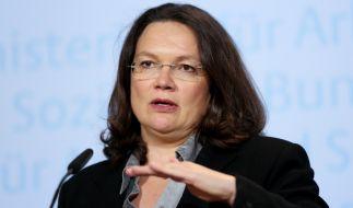 Arbeitsministerin Andrea Nahles (SPD). (Foto)