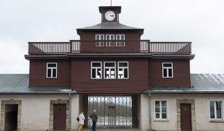 Vor der KZ-Gedenkstelle Buchenwald schockte ein Mann mit geschmacklosen Reden aus der Nazi-Zeit. (Foto)