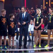Kids forderten olympisches Dreamteam zum Volleyball-Duell (Foto)