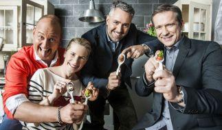 Die Spitzenköche Frank Rosin, Alexander Herrmann, Cornelia Poletto und Roland Trettl suchen gemeinsam Deutschlands besten Koch. (Foto)