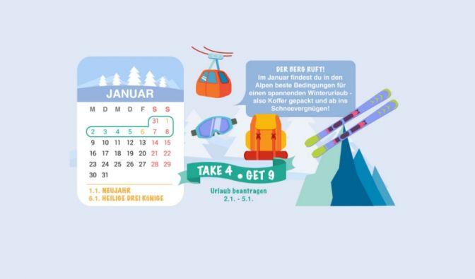 In Baden-Württemberg, Bayern und Sachsen-Anhalt ist der 6. Januar ein Feiertag (Heilige Drei Könige). Wer hier vier Tage Urlaub beantragt, hat ganze neun Tage am Stück frei. (Foto)