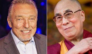 Karel Gott und der Dalai Lama sind in Prag das erste Mal aufeinander getroffen. (Foto)