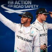 Lewis Hamilton nach Qualifying auf der Pole, Rosberg auf Platz 2 (Foto)
