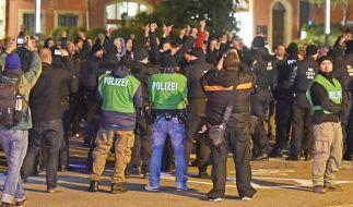 Rechtsextremistischer Aufmarsch in Bautzen. (Foto)