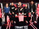 """The Voice""-Jury (l-r): Yvonne Catterfeld, Michi Beck, Samu Haber, Smudo und Andreas Bourani. (Foto)"
