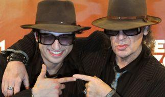 Serkan Kaya und Udo Lindenberg posieren für die Fotografen. (Foto)