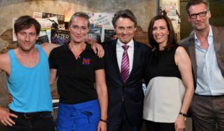 Bommel, Maren, Jo, Katrin und Alex im Mauerwerk. (Foto)