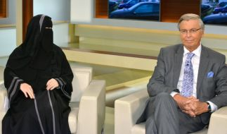 Ungleiches Paar: Die Frauenbeauftragte im Islamischen Zentralrat der Schweiz, Nora Illi und der CDU-Innenexperte Wolfgang Bosbach. (Foto)