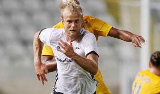 Rosenborg-Kicker Christian Gytkjaer zeigt nicht nur auf dem Spielfeld was er zu bieten hat. (Foto)