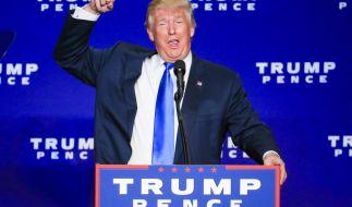 Donald Trump hat gut Lachen: Er hat die Wahl für sich entschieden. (Foto)