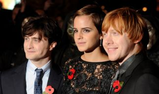 Daniel Radcliffe, Emma Watson und Rupert Grint. (Foto)