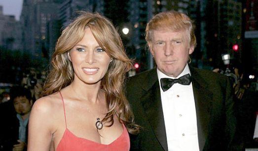 Die frischgebackene Ehefrau Melania Trump strahlt vor Glück (April 2005).