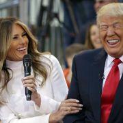 So ausgelassen und fröhlich wie hier sieht man die Trumps allerdings selten.