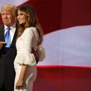 Donald Trump ist sichtlich stolz auf seine schöne Frau (Juli 2016).