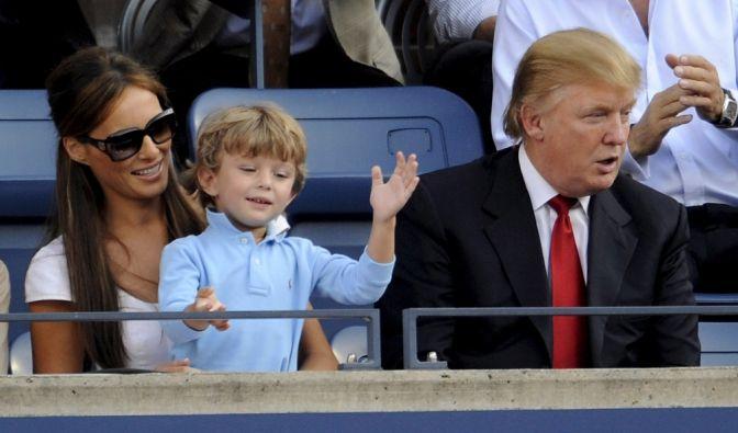 Melania und Donald mit ihrem Sohn Barron (2008).