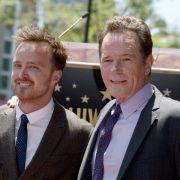 Jesse Pinkman alias Aaron Paul (li.) und Walter White alias Bryan Cranston waren das Erfolgsduo im Drogengeschäft schlechthin - jedenfalls in der TV-Serie