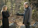 """""""Der Kommissar und das Meer - Für immer Dein"""": Robert (Walter Sittler) spricht mit Elisabeth (Charlotta Jonsson) im Wald. (Foto)"""