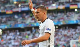 Lukas Podolski gibt am 22. März 2017 sein Abschiedsspiel in der deutschen Nationalmannschaft. (Foto)