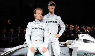 Nico Rosberg (links) und Michael Schumacher fuhren gemeinsam bei Mercedes. (Foto)