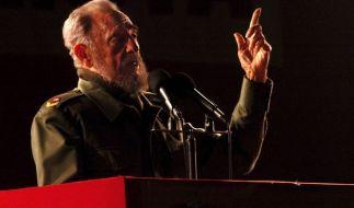 Fidel Castro bei einer Rede im Jahr 2006. (Foto)